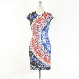 Clover Canyon Psychedelic Print Bodycon Dress
